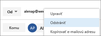 Odstráňte alias OD.