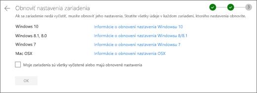 Snímka obrazovky s obrazovkou zvyšných zariadení na webovej lokalite OneDrive