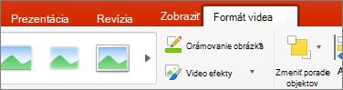 Karta Formát Video v PowerPointe 2016 pre Mac