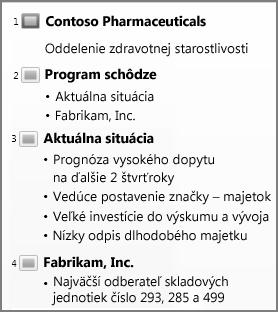Zobrazenie prehľadu v PowerPointe