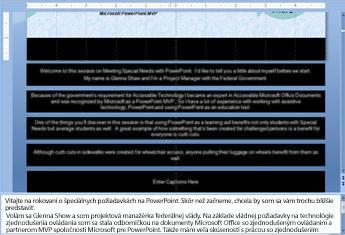 Zadávanie textu do organizačnej schémy
