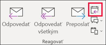 V e-mailovej správy, vyberte položku odpovedať so schôdzou.