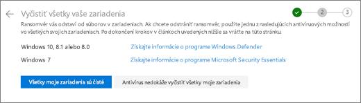 Snímka obrazovky s obrazovkou vyčistiť všetky zariadenia na webovej lokalite OneDrive