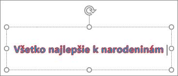 Objekt WordArt spoužitou farbou pre výplň aobrys textu