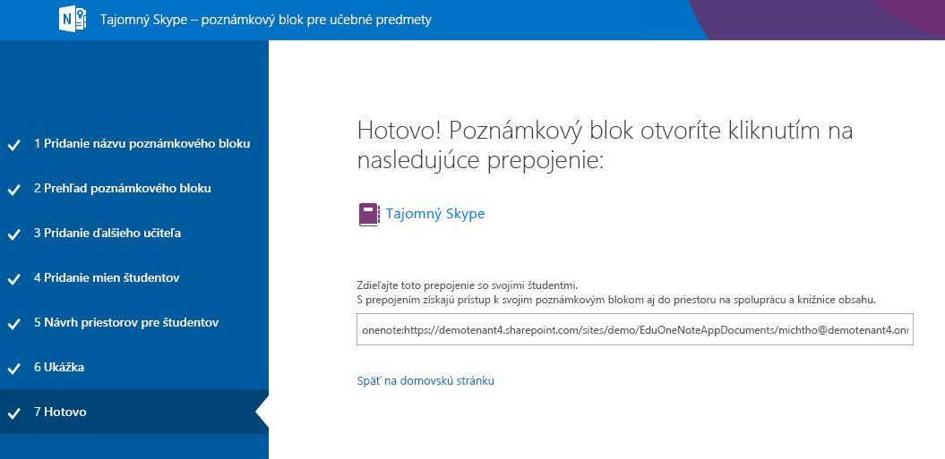 Inštalácia aplikácie Mystery Skype je dokončená