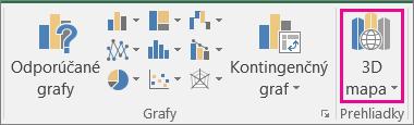 Možnosť 3D mapa v Exceli