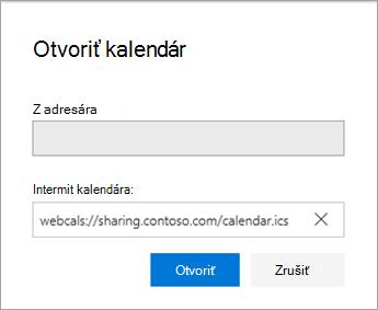 Zadajte URL adresu kalendára
