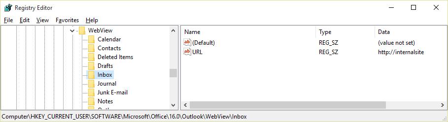 Kľúč databázy Registry WebView