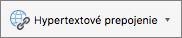 Tlačidlo Hypertextové prepojenie