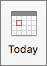 Tlačidlo Zobrazenie kalendára v súčasnosti