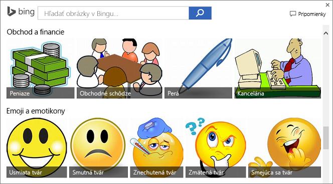 Príklady webových obrázkov