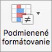 Tlačidlo Podmienené formátovanie