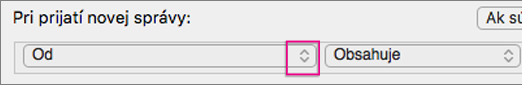 Kliknite na tlačidlo s dvojitými šípkami a otvorte zoznam