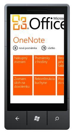 OneNote Mobile 2010 rozbočovača