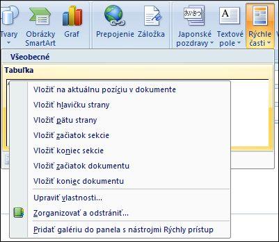 Outlook 2007 upraviť rýchlych častí