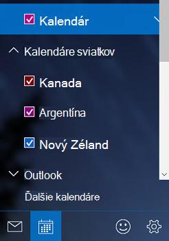 Pridanie kalendára sviatkov v kalendári vo Windowse 10