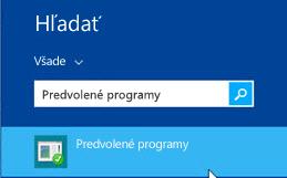 Snímka obrazovky spredvolenými programami