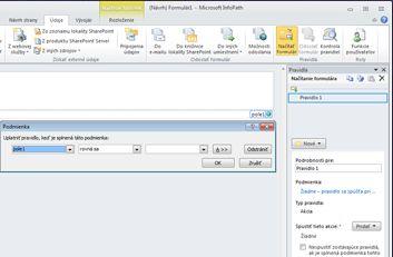 Pridávanie, odstraňovanie a prepínanie zobrazení vo formulári