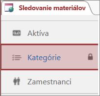 Ikona uzamknutia zobrazená na uzamknutej tabuľke vAccesse