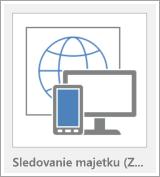 Tlačidlo šablóny webovej aplikácie Accessu