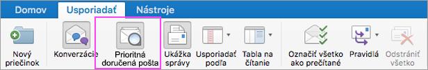 Prioritná doručená pošta na udržanie prehľadu ve-mailoch.