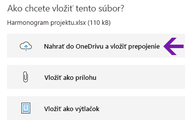 Možnosti vloženia súboru vo OneNote pre Windows 10