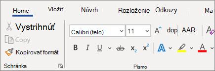 Pridanie aformátovanie textu vo Worde