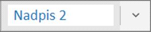 Ponuka štýlov v aplikácii OneNote pre Windows 10