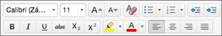 Tlačidlá formátovania v Outlooku pre Mac