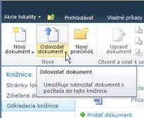 Odovzdávanie dokumentov do odkladacej knižnice