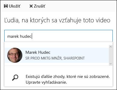 Office 365 Video spolupracovník ľudí