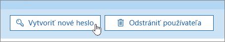 Tlačidlo Vytvoriť nové heslo.