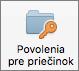 Tlačidlo Povolenia priečinka v Outlooku 2016 pre Mac