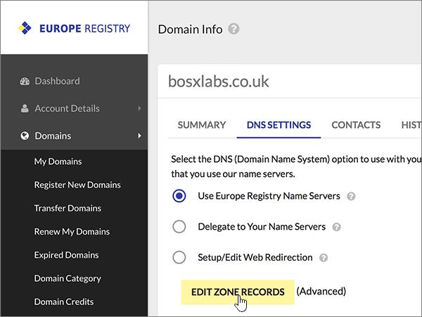 Snímka obrazovky EuropeRegistry-Konfigurácia-1-6