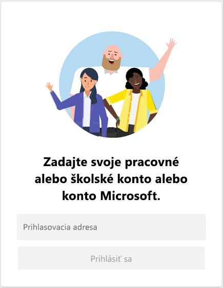 Prihlásenie do aplikácie Microsoft Teams