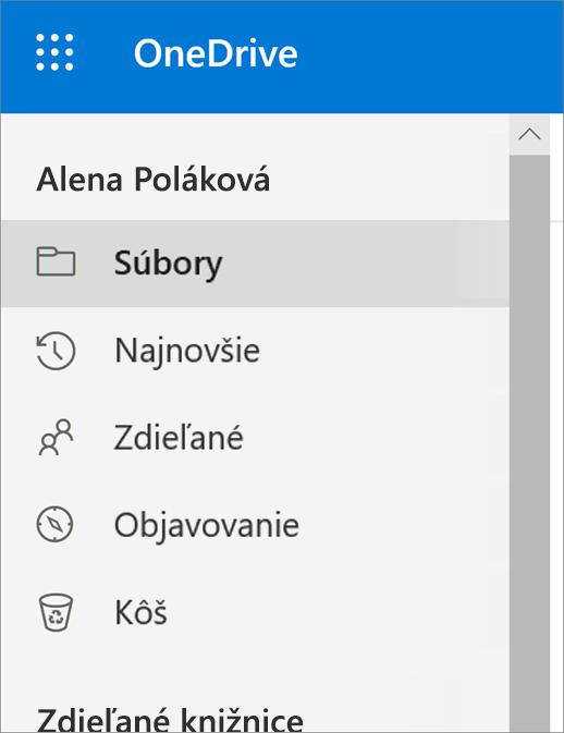 Ponuka Zobraziť vo OneDrive