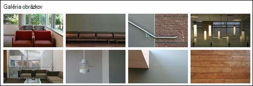 SharePointová webová časť Galéria obrázkov