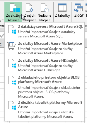 Power Query Import v dialógovom okne Azure