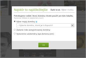 Na lokalite GoDaddy vyberte z rozbaľovacej ponuky v časti s najdôležitejšími informáciami na úvod doménu