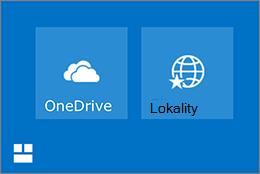 OneDrive a lokalít dlaždice