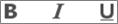 Ikony Tučné písmo, Kurzíva aPodčiarknutie