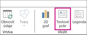 Tlačidlo Textové pole na karte Domov vo funkcii Power Map