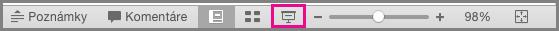 Ikona prezentácie vstavovom riadku PowerPoint pre Mac