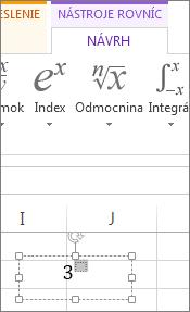 Písanie do poľa na formátovanie horného indexu