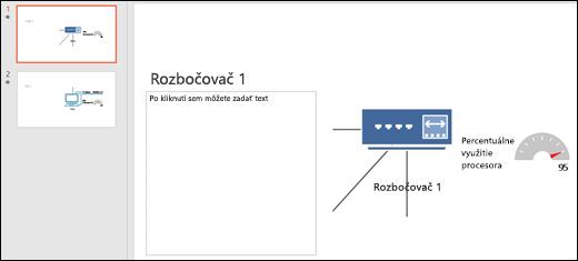 Snímka obrazovky znázorňujúca powerpointovú snímku snadpisom aobrázkom.