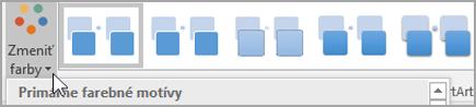 Kliknutie na tlačidlo Zmeniť farby