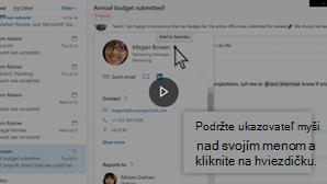 Obrázok miniatúry na pridanie videa kontaktu