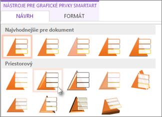 Použitie štýlu SmartArt