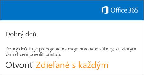 Otvorte e-mail akliknite na položku Otvoriť webovú lokalitu.