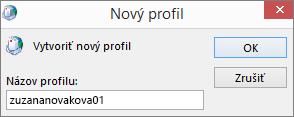 Nastavenie nového poštového profilu v Outlooku pre používateľa jankovac
